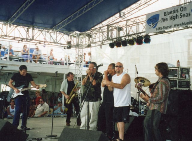 Tommy Castro Band with Charlie Musselwhite, Curtis Salgado and Kim Wilson. Legendary Blues Cruise, 2002.