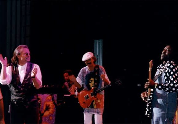 Curtis Salgado, Carlos Santana and Buddy Guy